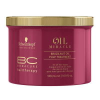 Schwarzkopf BC Oil Miracle Brazilnut Oil Pulp Treatment: juuksemask värvu kirgastamiseks, 500 ml