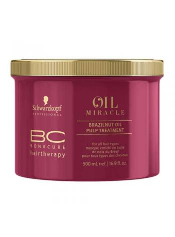 Schwarzkopf BC Oil Miracle Brazilnut Oil Pulp Treatment: juuksemask värvu kirgastamiseks, 500 ml
