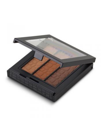 Make Up Store TRI Brow Brown: matt kulmuvärvitrio (soe pruun)