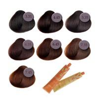 Professionaalne püsivärv: pruunid toonid