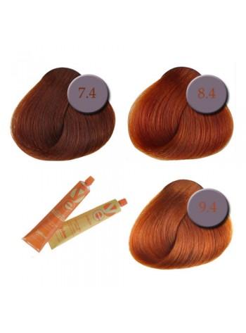 Professionaalne püsivärv: vasekarva juuksed, 7.4-9.4
