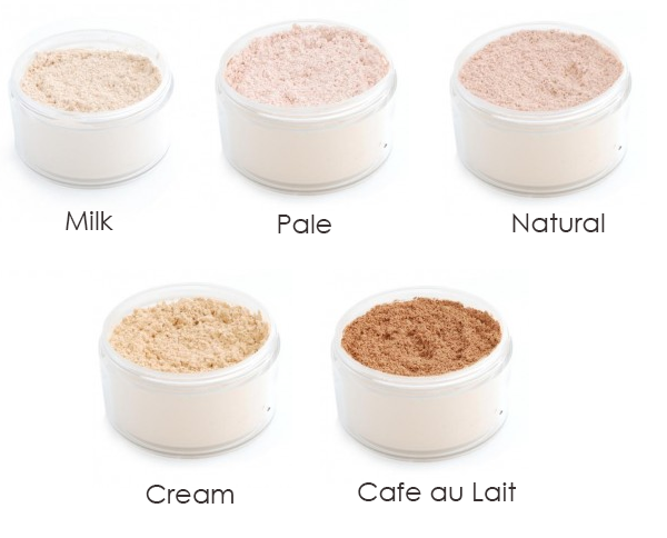 make up store loose powder milk